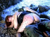 Vidéo porno mobile : BDSM on the beach, she loves being whipped